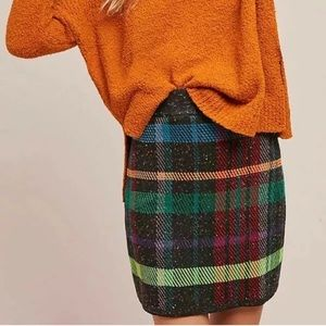 Cecelia Prada Anthropologie plaid mini skirt